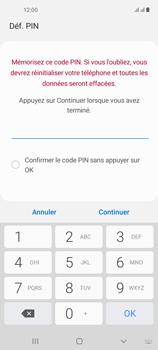 Samsung Galaxy A21s - Sécuriser votre mobile - Activer le code de verrouillage - Étape 8