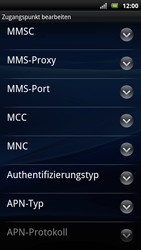 Sony Ericsson Xperia Arc S - Internet - Manuelle Konfiguration - Schritt 12