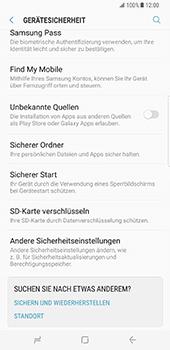 Samsung Galaxy S8 Plus - Datenschutz und Sicherheit - PIN-Code der SIM-Karte ändern - 5 / 12