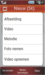 Samsung S5230 Star - MMS - Afbeeldingen verzenden - Stap 13