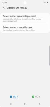 Samsung Galaxy Note10 - Réseau - Sélection manuelle du réseau - Étape 7