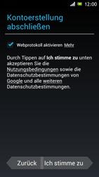 Sony Xperia J - Apps - Konto anlegen und einrichten - 10 / 16