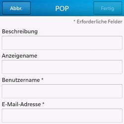 BlackBerry Q10 - E-Mail - Konto einrichten - Schritt 8