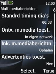 Nokia 2730 classic - MMS - probleem met ontvangen - Stap 10