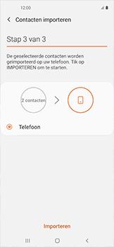 Samsung galaxy-xcover-pro-sm-g715fn - Contacten en data - Contacten kopiëren van SIM naar toestel - Stap 12