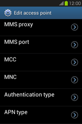 Samsung S6810P Galaxy Fame - MMS - Manual configuration - Step 13