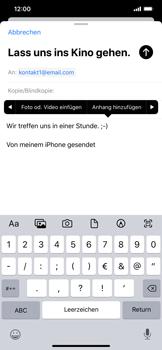 Apple iPhone XS Max - iOS 13 - E-Mail - E-Mail versenden - Schritt 10