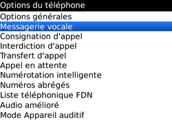 BlackBerry 9700 Bold - Messagerie vocale - Configuration manuelle - Étape 5