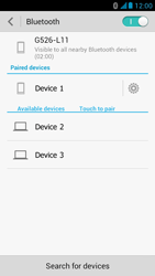 Huawei Ascend G526 - Bluetooth - Connecting devices - Step 8