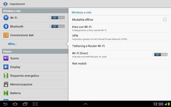 Samsung Galaxy Tab 2 10.1 - Internet e roaming dati - Disattivazione del roaming dati - Fase 5