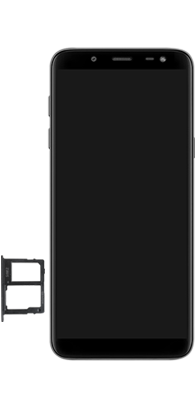 Samsung Galaxy J6 - Premiers pas - Insérer la carte SIM - Étape 7