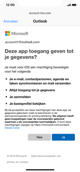 Apple iPhone X - iOS 12 - E-mail - e-mail instellen (outlook) - Stap 8