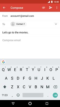 Nokia 6 (2018) - E-mail - Sending emails - Step 8