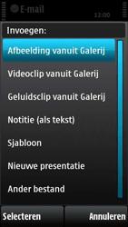 Nokia X6-00 - E-mail - hoe te versturen - Stap 11