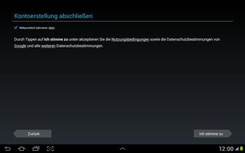 Samsung N8000 Galaxy Note 10-1 - Apps - Konto anlegen und einrichten - Schritt 12