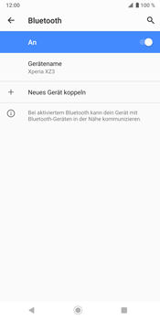 Sony Xperia XZ3 - Bluetooth - Geräte koppeln - Schritt 10