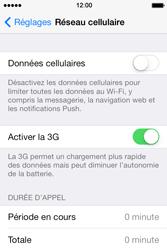 Apple iPhone 4 S iOS 7 - Internet - Désactiver les données mobiles - Étape 5