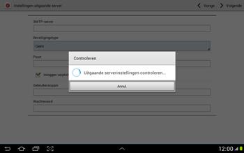 Samsung N8000 Galaxy Note 10-1 - E-mail - e-mail instellen: POP3 - Stap 14