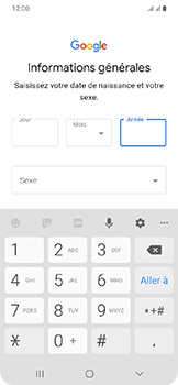 Samsung Galaxy A20e - Applications - Créer un compte - Étape 9