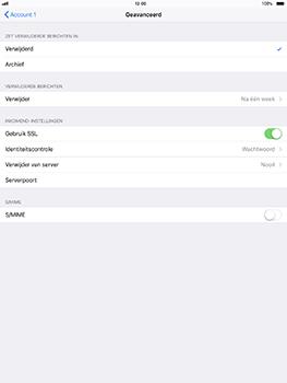 Apple iPad Pro 10.5 inch - iOS 11 - E-mail - Account instellen (POP3 met SMTP-verificatie) - Stap 22