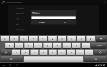 Sony SGP321 Xperia Tablet Z LTE - Internet - handmatig instellen - Stap 15
