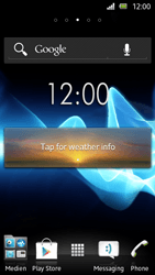 Sony Xperia U - Getting started - Installing widgets and applications on your start screen - Step 7