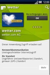 Sony Ericsson Xperia X8 - Apps - Herunterladen - 14 / 22