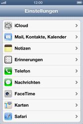 Apple iPhone 4 - Anrufe - Rufumleitungen setzen und löschen - Schritt 3