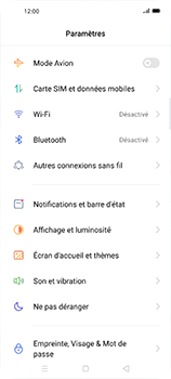 Oppo Find X2 Neo - Internet et connexion - Accéder au réseau Wi-Fi - Étape 4