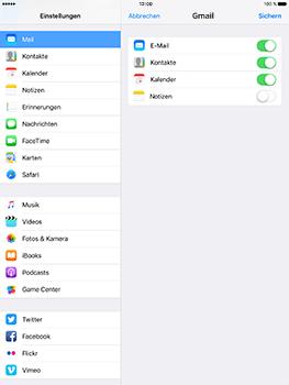 Apple iPad Pro 9.7 inch - iOS 10 - E-Mail - Konto einrichten (gmail) - Schritt 8