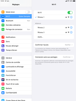 Apple iPad Air 2 - ipados 13 - WiFi - Configuration du WiFi - Étape 7