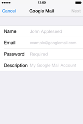 Apple iPhone 4S iOS 7 - E-mail - 032a. Email wizard - Gmail - Step 7