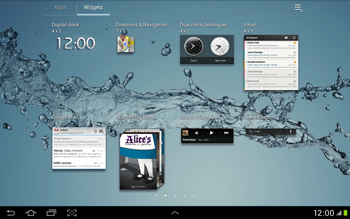 Samsung Galaxy Tab 2 10.1 - Getting started - Installing widgets and applications on your start screen - Step 6