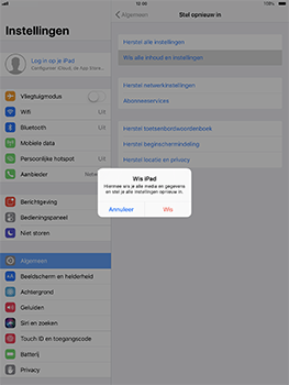 Apple iPad Pro 10.5 inch - iOS 11 - Resetten - Fabrieksinstellingen terugzetten - Stap 5