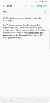 Samsung Galaxy Note9 - WiFi - WiFi-Konfiguration - Schritt 6