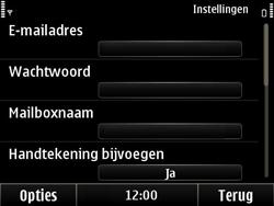 Nokia E6-00 - e-mail - handmatig instellen - stap 14