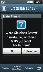 Samsung Jet - MMS - Erstellen und senden - 15 / 22