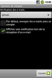 Alcatel OT-991 Smart - E-mail - Configuration manuelle - Étape 17