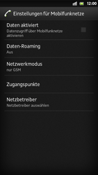 Sony Xperia S - Netzwerk - Manuelle Netzwerkwahl - Schritt 6