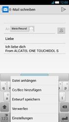 Alcatel Idol S - E-Mail - E-Mail versenden - 1 / 1