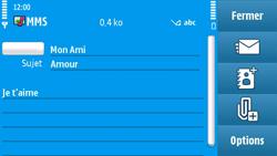 Nokia N97 - MMS - envoi d'images - Étape 12