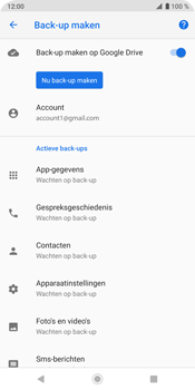 Sony Xperia XZ3 - Data - Maak een back-up met je account - Stap 11