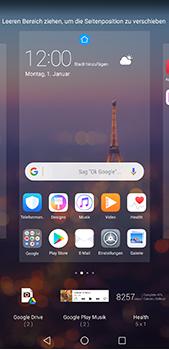 Huawei P20 Pro - Startanleitung - Installieren von Widgets und Apps auf der Startseite - Schritt 6