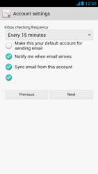 Huawei Ascend G526 - E-mail - manual configuration - Step 17