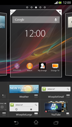 Sony Xperia V - Getting started - Installing widgets and applications on your start screen - Step 4