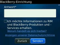 BlackBerry Bold - Apps - Konto anlegen und einrichten - 14 / 19