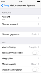 Apple iPhone 5s iOS 8 - E-mail - Account instellen (IMAP zonder SMTP-verificatie) - Stap 16