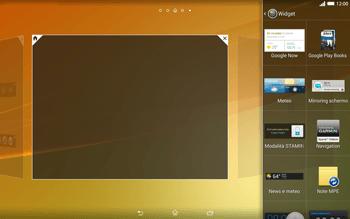 Sony Xperia Tablet Z2 LTE - Operazioni iniziali - Installazione di widget e applicazioni nella schermata iniziale - Fase 5