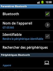 Samsung S5360 Galaxy Y - Bluetooth - connexion Bluetooth - Étape 11