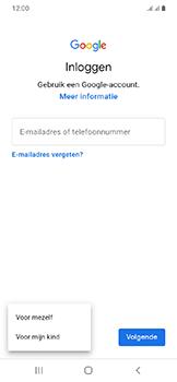 Samsung Galaxy A20e - apps - account instellen - stap 6